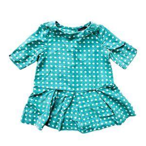 Host Pick❤️Baby Gap Green Polka Dot Corduroy Dress